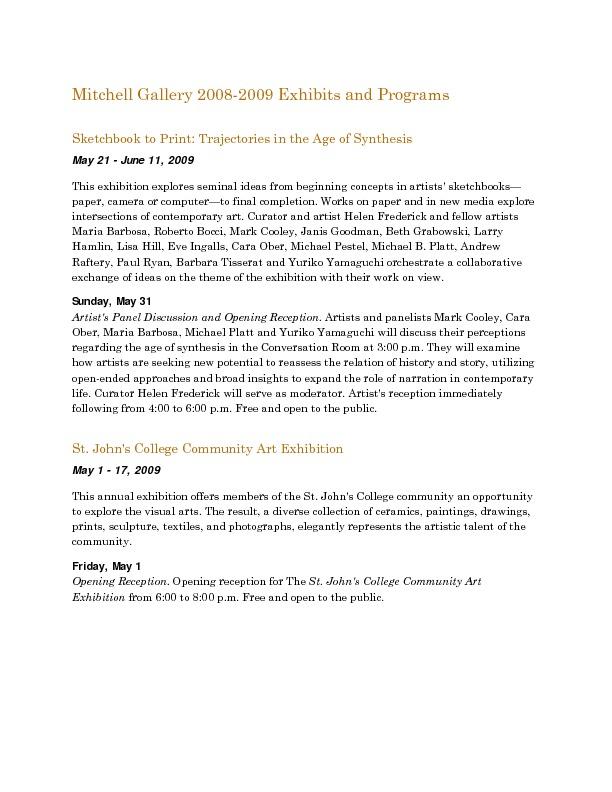 Mitchell Gallery Exhibition Schedule 2008-2009.pdf
