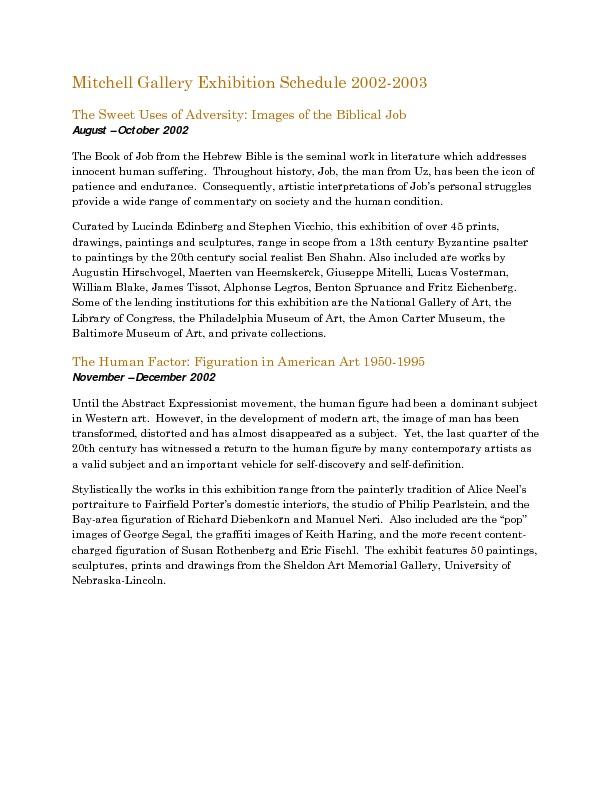 Mitchell Gallery Exhibition Schedule 2002-2003.pdf