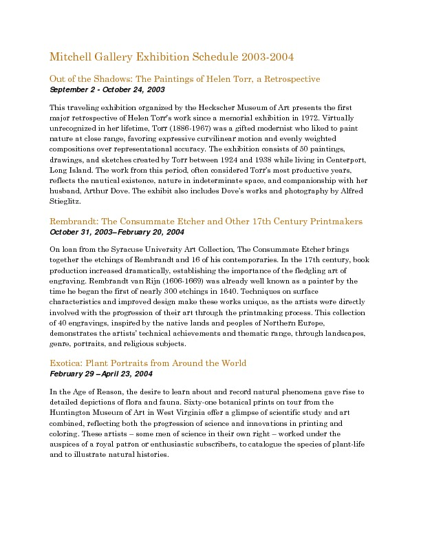 Mitchell Gallery Exhibition Schedule 2003-2004.pdf