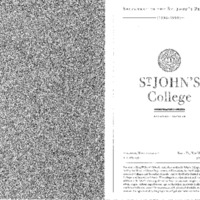 Statement of the St. John's Program 1998-1999