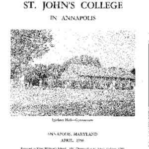 Bulletin of St. John's College in Annapolis, April 1956
