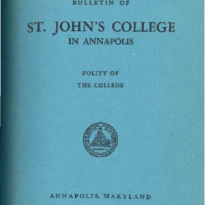 Bulletin of St. John's College in Annapolis, September 1950