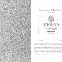 Statement of the St. John's Program 2012-2013