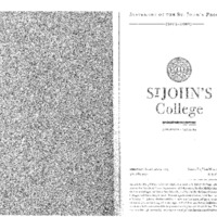 Statement of the St. John's Program 2002-2003