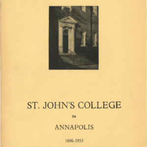 Bulletin of St. John's College in Annapolis, February 1933