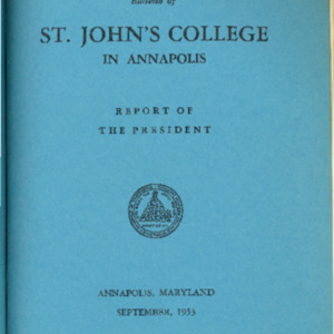 Bulletin of St. John's College in Annapolis, September 1953