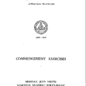 Commencement Exercises from 1947 {1947-06-09}.pdf