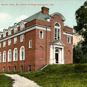 Postcard of Senior Hall (Randall Hall), St. John's College, Annapolis, Maryland