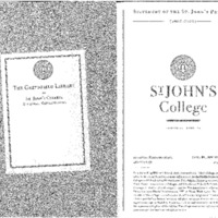 Statement of the St. John's Program 2005-2006