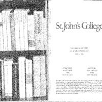 Statement of the St. John's Program 1995-1996
