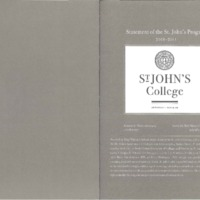 Statement of the St. John's Program 2010-2011