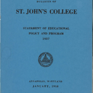 Bulletin of St. John's College, January 1958