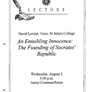 An ennobling innocence : the founding of Socrates' Republic