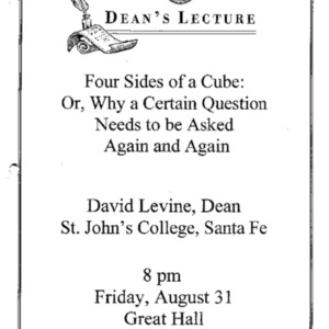 Four sides of a cube : or, why a certain question must be asked again and again