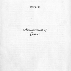 Catalogue 1929-1930 (Announcement of Courses).pdf