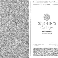 Statement of the St. John's Program 2003-2004